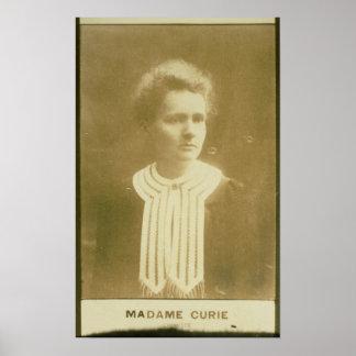 Retrato de Marie Curie Póster