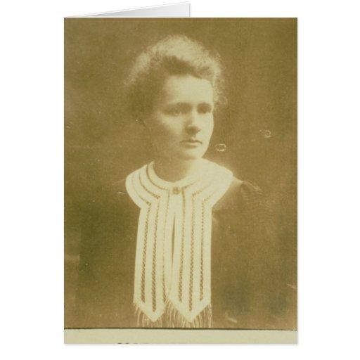 Retrato de Marie Curie Tarjetas