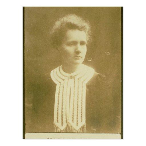 Retrato de Marie Curie Postales