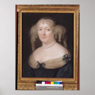 Retrato de Marie de Rabutin-Chantal Marquise Poster