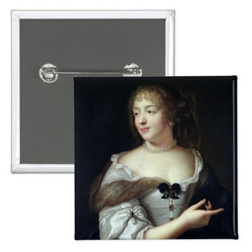 Retrato de Marie de Rabutin-Chantal Pin Cuadrado