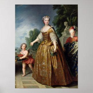 Retrato de Marie Leczinska después de 1725 Póster