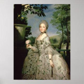 Retrato de Marie-Louise de Borbón Póster