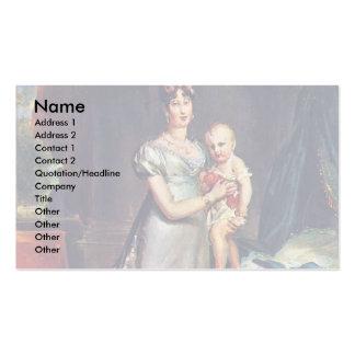 Retrato de Marie Louise y el rey Of Roma Tarjetas De Visita