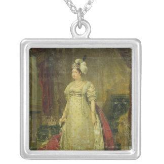 Retrato de Marie-Teresa-Charlotte de Francia Colgante Cuadrado