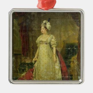 Retrato de Marie-Teresa-Charlotte de Francia Adorno Cuadrado Plateado