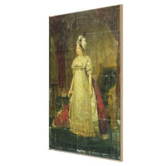 Retrato de Marie-Teresa-Charlotte de Francia Impresion De Lienzo