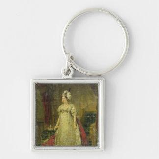 Retrato de Marie-Teresa-Charlotte de Francia Llavero Cuadrado Plateado