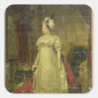 Retrato de Marie-Teresa-Charlotte de Francia Pegatina Cuadrada