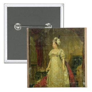 Retrato de Marie-Teresa-Charlotte de Francia Pin Cuadrada 5 Cm