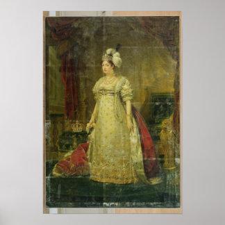 Retrato de Marie-Teresa-Charlotte de Francia Póster