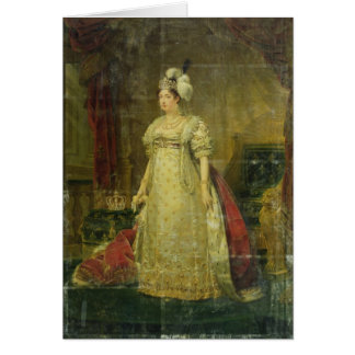 Retrato de Marie-Teresa-Charlotte de Francia Tarjeta De Felicitación