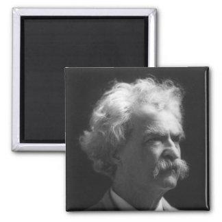 Retrato de Mark Twain Imán Cuadrado