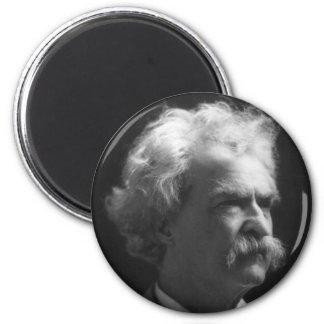 Retrato de Mark Twain Imán Redondo 5 Cm