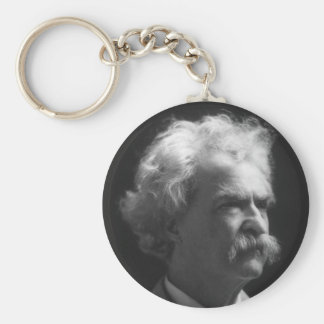 Retrato de Mark Twain Llavero Redondo Tipo Pin