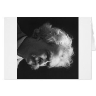 Retrato de Mark Twain Tarjeta De Felicitación