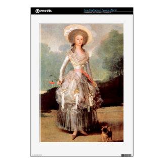 Retrato de Marquesa de Pontejos Sandoval por Goya Calcomanías Para El PS3