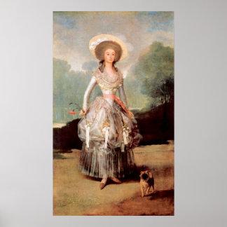 Retrato de Marquesa de Pontejos Sandoval por Goya Póster