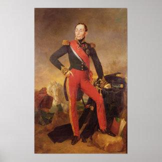 Retrato de Marquis Manuel de Grouchy Póster