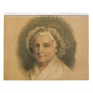 Retrato de Martha Washington por curtidor y Ives Calendario
