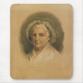 Retrato de Martha Washington por curtidor y Ives Tapete De Ratón