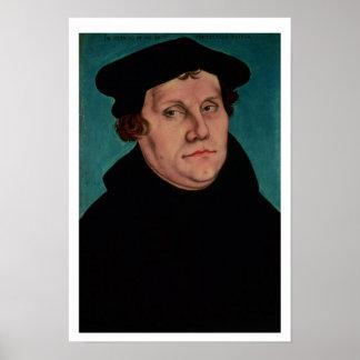 Retrato de Martin Luther, 1529 Posters