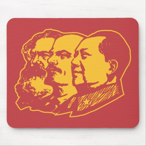 Retrato de Marx Lenin Mao Alfombrilla De Ratón