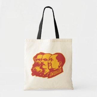 Retrato de Marx Lenin Mao Bolsa Tela Barata