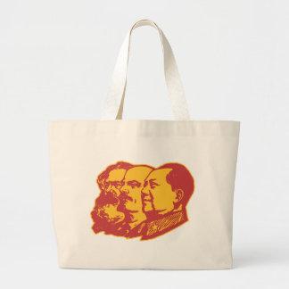 Retrato de Marx Lenin Mao Bolsa Tela Grande