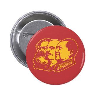 Retrato de Marx Lenin Mao Pin Redondo De 2 Pulgadas