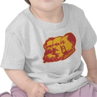 Retrato de Marx Lenin Mao Camiseta