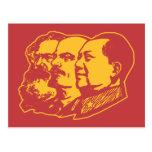 Retrato de Marx Lenin Mao Tarjetas Postales