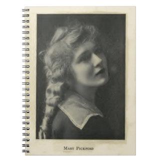 Retrato de Mary Pickford Cuaderno