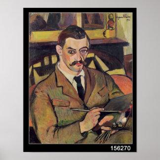 Retrato de Maurice Utrillo 1921 Poster