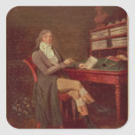 Retrato de Mauricio de Talleyrand Pegatina Cuadrada