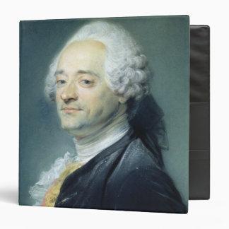 """Retrato de Mauricio Quentin de la Tour, 1750 Carpeta 1 1/2"""""""