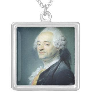Retrato de Mauricio Quentin de la Tour, 1750 Collar Plateado