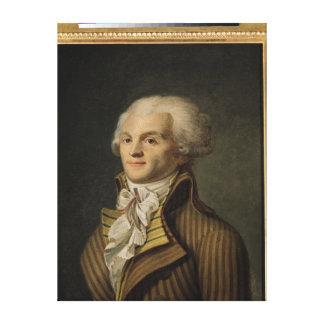 Retrato de Maximiliano de Robespierre Impresión En Lona Estirada