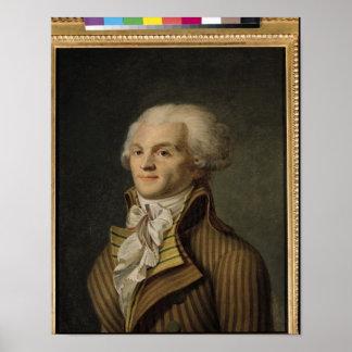 Retrato de Maximiliano de Robespierre Poster