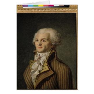 Retrato de Maximiliano de Robespierre Tarjetas