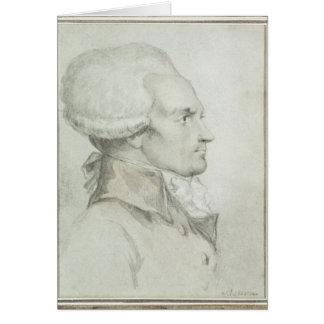 Retrato de Maximiliano de Robespierre Felicitaciones