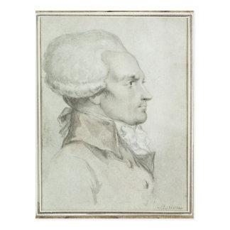 Retrato de Maximiliano de Robespierre Tarjeta Postal