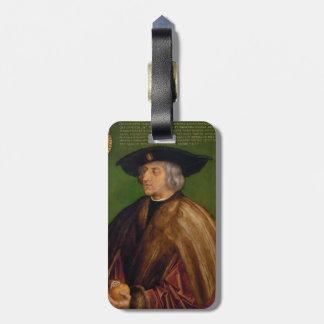 Retrato de Maximiliano I de Albrecht Durer Etiquetas Maletas
