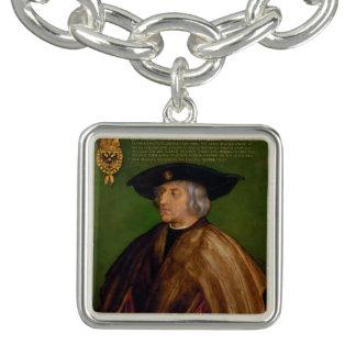 Retrato de Maximiliano I de Albrecht Durer Pulsera Con Dije