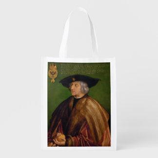 Retrato de Maximiliano I de Albrecht Durer Bolsas Reutilizables