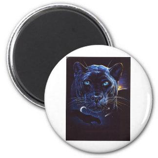 Retrato de medianoche del leopardo imanes