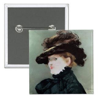 Retrato de Mery Laurent 1882 Pin Cuadrado