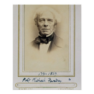 Retrato de Michael Faraday (1791-1867) (albumen p Impresiones