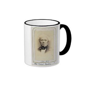 Retrato de Michael Faraday (1791-1867) (albumen p Taza A Dos Colores