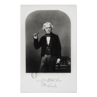 Retrato de Michael Faraday Posters